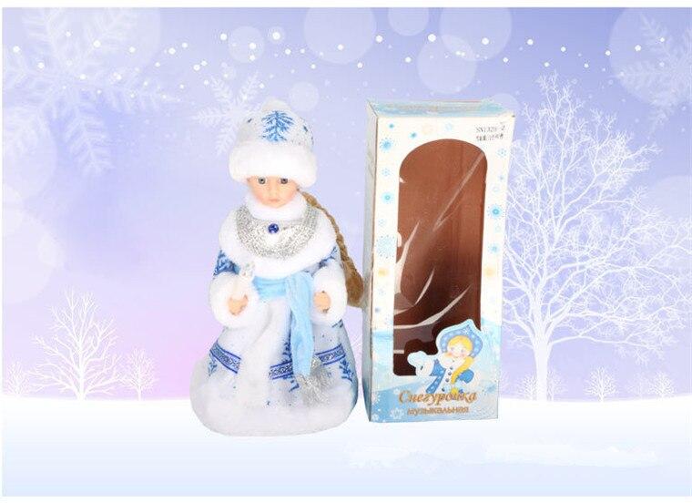 neve para decoração elétrica musical natal boneca