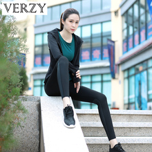 Yoga Set Women Sportswear For Fitness Bra+Running Pants+Yoga T-Shirt+Hoodies Jacket 4 Pieces Sports Suit Breathable Gym Clothing
