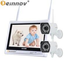 EINNOV 1CH/2CH Системы ВИДЕОНАБЛЮДЕНИЯ Беспроводной 720 P NVR 1 ШТ./2 ШТ. 1MP ИК Открытый P2P Wi-Fi IP CCTV Камеры Безопасности Системы Видеонаблюдения Комплект