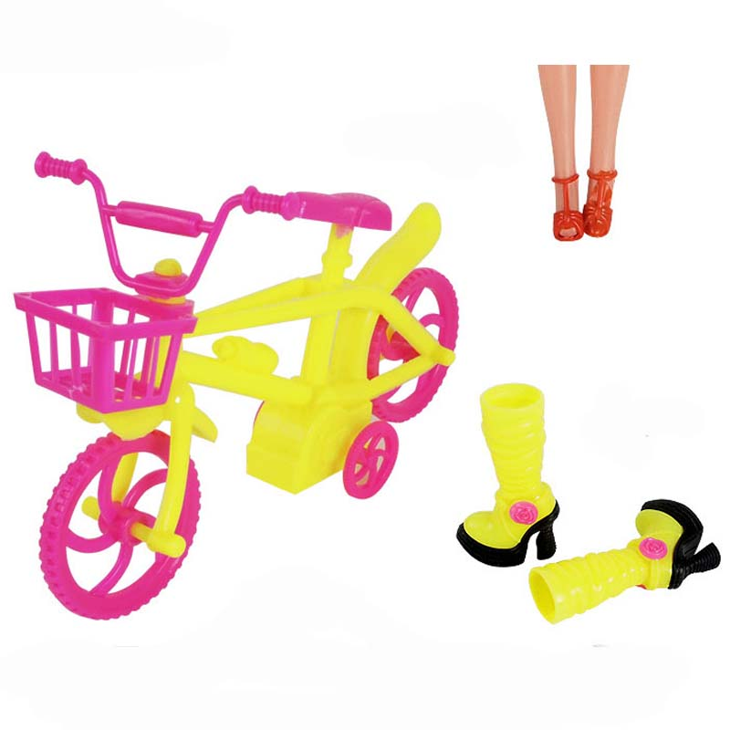 New Fashion Doll Suits High Quality Baby Pretend Play Bicycles Stroller Dolls Accessories Children Toy Girls Birthday Gift