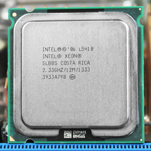Intel Xeon L5410 Quad-Core CPU 2.33GHz 12MB 1333MHz Processor werkt op LGA 775 moederbord(China)
