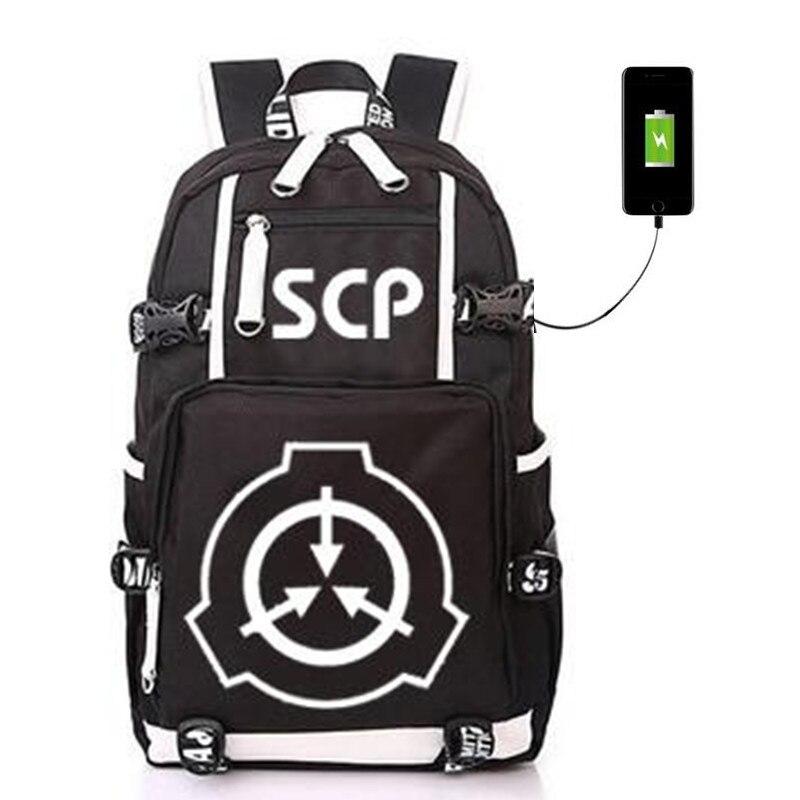 SCP procédures de confinement spéciales fondation USB sac à dos lumineux étudiant sac à dos étudiant cartable sac de voyage