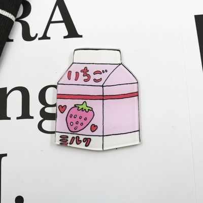 Hot Sale 1PCS Kawaii Ikon Cantik Kartun Hewan Makanan Acrylic Bros Pakaian Lencana Dekoratif Ransel Dekorasi Ikon Pin Lencana
