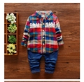 Little boy's clothes 2016 spring and autumn children's clothing 2-5 year old boy clothes fashion suit / two pieces / hot sale