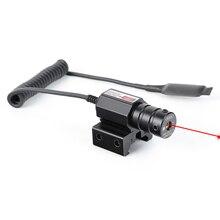 Ohhunt тактический охотничий красный точечный мини Красный лазерный прицел ласточкин хвост или Вивер Пикатинни крепление с дистанционным переключателем давления