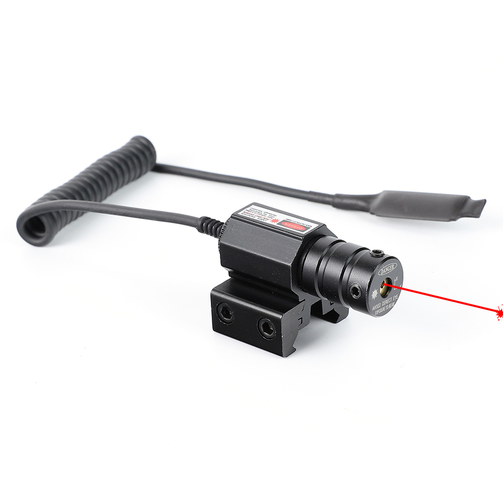 ohhunt Tactical Hunting Red Dot Mini Red Laser Sight Scope Dovetail or Weaver Picatinny Rail Mount with Remote Pressure Switch