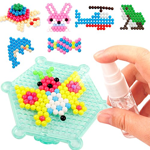 DIY Water Spray Magic  Beads Hand Making 3D Beads Puzzle Educational Toys For Children Kit Ball Game Wooden Toys