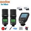2x Godox V860IIN HSS ttl Flash 1/8000 S 2 4G Speedlight литий-ионный аккумулятор + Xpro-N триггер для Nikon D7200 D7100 D7000 D5500 D5300