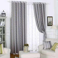 2016 Pastoral Curtains For Living Room Polyester Jacquard Blackout Curtains Decoration Bedroom Cortinas De Quarto