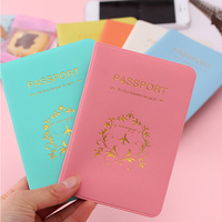 Candy Color Travel Passport Cover Card Case Women Men Credit Card Holder Travel ID Document Passport Holder Bag Passport & ID Holders