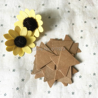 Free Shipping 500 Pcs A Lot 5cm Blank Triangle Kraft Paper Hang Tags Gift Decorated Card