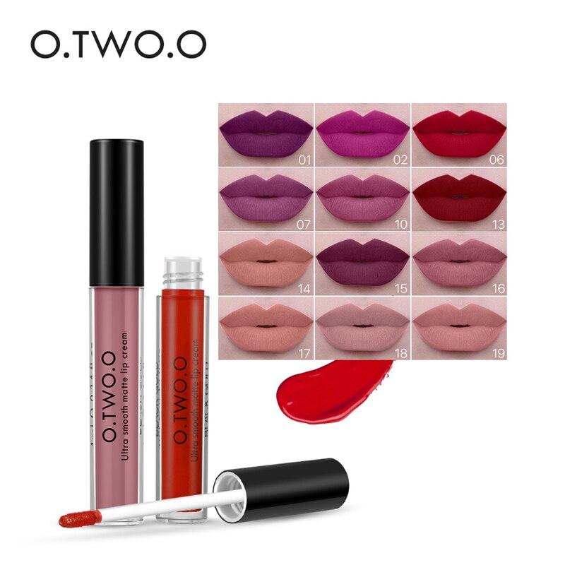 O.TWO.O 20 Colors Soft Cream Lip Stick Moisturizer Long