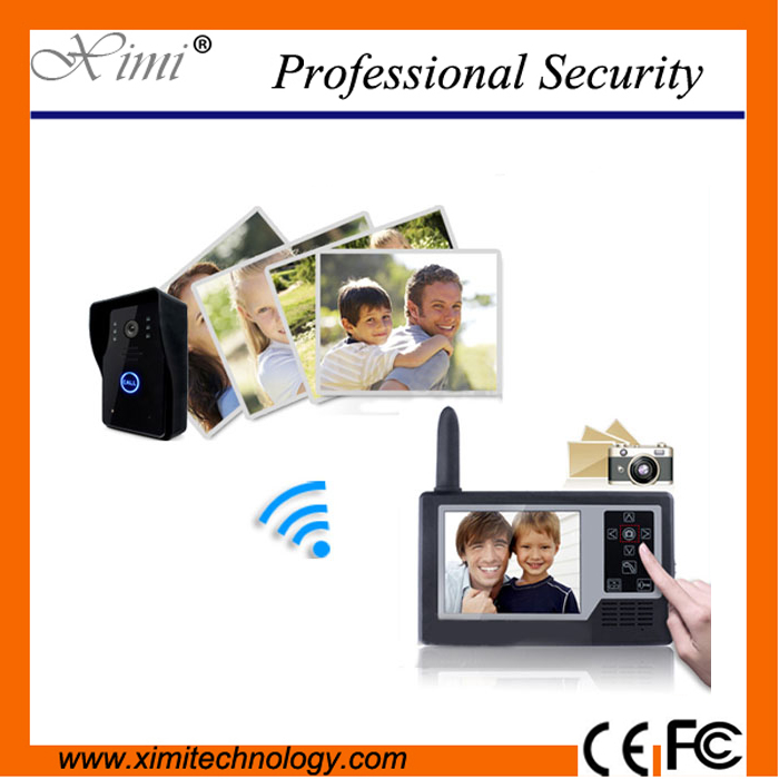 New arrival high quality wireless video door phones 3.5inch color screen wirth camera hands free video door phone video doorbell exported quality screen printing frame 7 5x10 inch 19x25cm wholesale price door to door