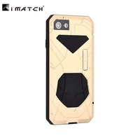 Original IMATCH Daily Waterproof Case For Apple iPhone 7 8/Plus Luxury Metal Silicone Cover Coque 360 Full Protection Phone Case