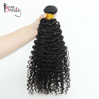 3B 3C Kinky Curly Brazilian Hair Weave Bundles Natural Black 10 28inches Remy Human Hair Extensions