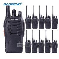 10 stks BaoFeng BF-888S Beste Walkie Talkies Lange Range Draagbare Twee Manier Radio CB Ham Radio Handheld Amateur Radio Scanner oortje
