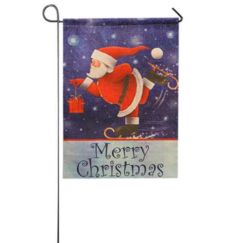 Skiing Santa Claus Outdoor snowman decoration 5c64ef1f43fcf