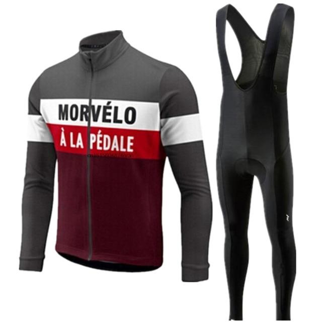 1c0fe19bf Morvelo long sleeve men 2018 Pro team Cycling Jersey pants Set Cycling  Clothing Road Bike Jersey Bicycle Clothes Bib Pants Suits