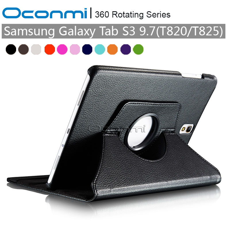 360 Rotating PU Leather case for Samsung Galaxy Tab S3 9.7 protective cover case for Samsung Galaxy Tab S3 9.7 SM-T820 SM-T825 планшет samsung galaxy tab s3 9 7 sm t820 wi fi 32gb черный