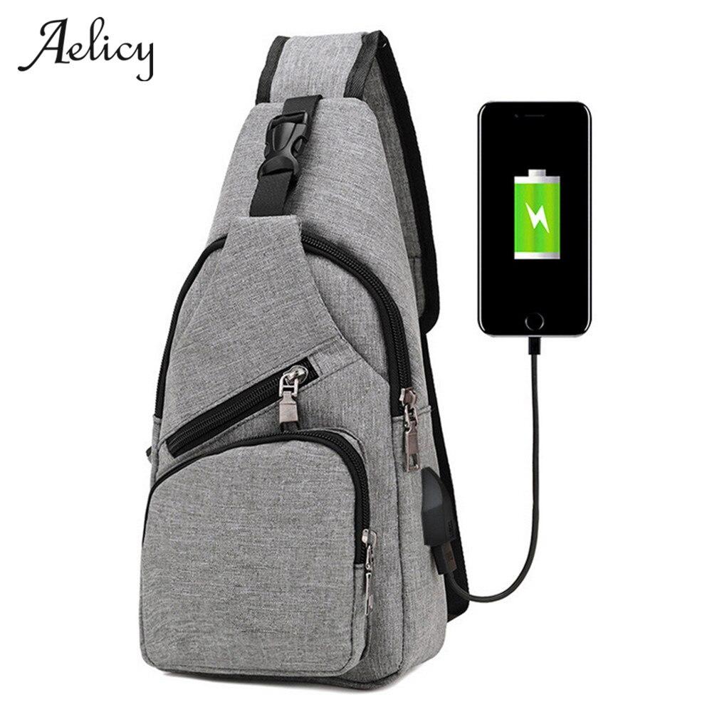 Aelicy 4 Colors New Arrival Oxford Men Chest Pack Single Shoulder Strap Back Bag Bolsos Mujer Sling Travel Shoulder Bag 0928