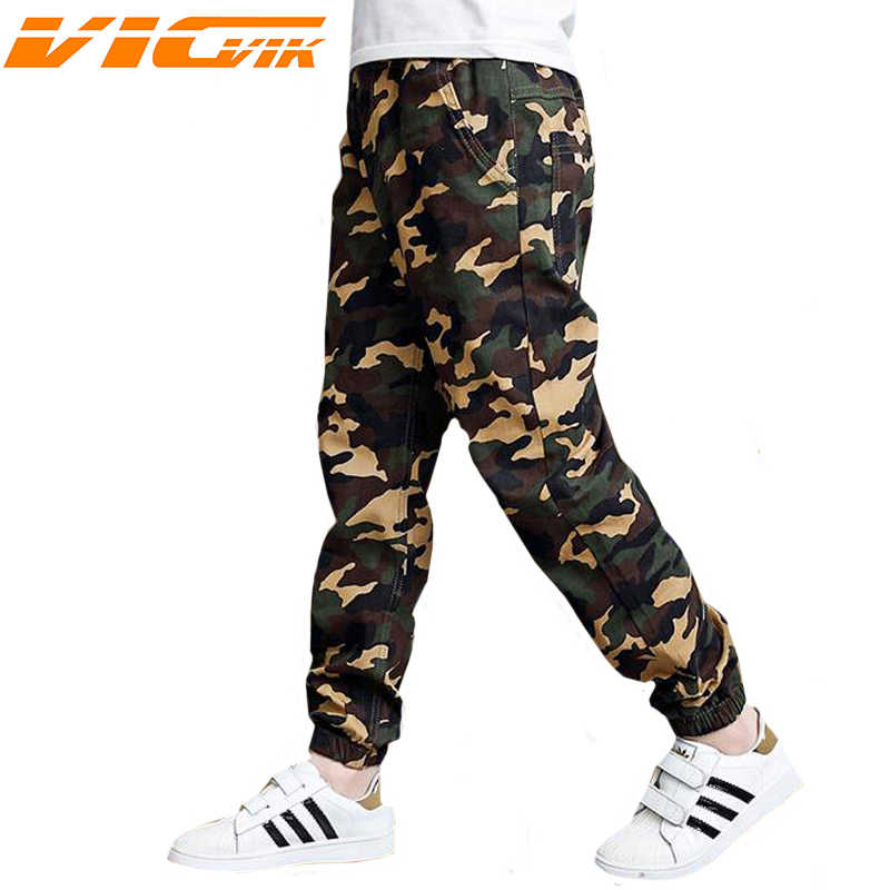 6bcecb7bc9521 Kids Camouflage Trousers Kids Pants Boys Trousers Camo Pants Boys Military  Pants Big Size 2019 Boy Trousers Teenage Boy Clothing