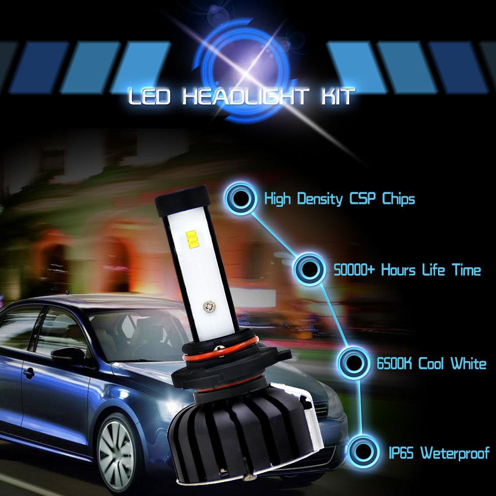 Спереди лампы 2 шт Светодиодный фар Светодиодный фонарь автомобильные аксессуары для укладки Универсальный Замена автомобиля