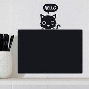 Child real small blackboard little grey blackboard stickers kitten wall stickers eco-friendly