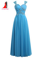 New sweetheart spaghetti straps bridesmaid dresses 2017 plus size chiffon wedding party gown with beads maid.jpg 200x200