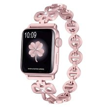 ANENG para Apple Watch Correa 38/42mm mujeres metal diamante banda para Apple Watch Serie 3 2 1 pulsera iWatch correa de acero inoxidable(China)