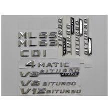 3d хромированный пластмассовый Автомобильный багажник буквы