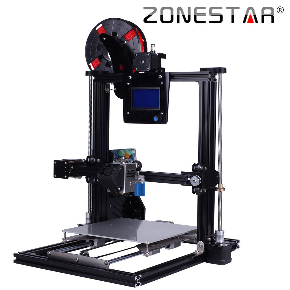 ZONESTAR Full Metal Aluminum Frame Big Size 300mm x 300mm Auto Level Laser Engraving Run out Decect 3d printer DIY kit zonestar newest full metal aluminum frame big size 300mm x 300mm auto level laser engraving run out decect 3d printer diy kit