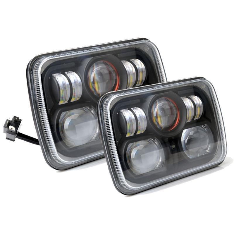 Пара квадратных 7х6 светодиодные фары H4 лампа для джип Вранглер ый Чероки, Команч