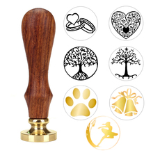 1x Wax Seal Stamp Retro Wood Classic Sealing Wax Seal Stamp Decorative Rose Tree Of Life Wedding Invitation Antique Stamp(China)
