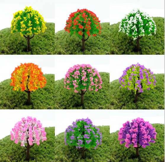Buy colorful artificial mini trees for Garden trees b q