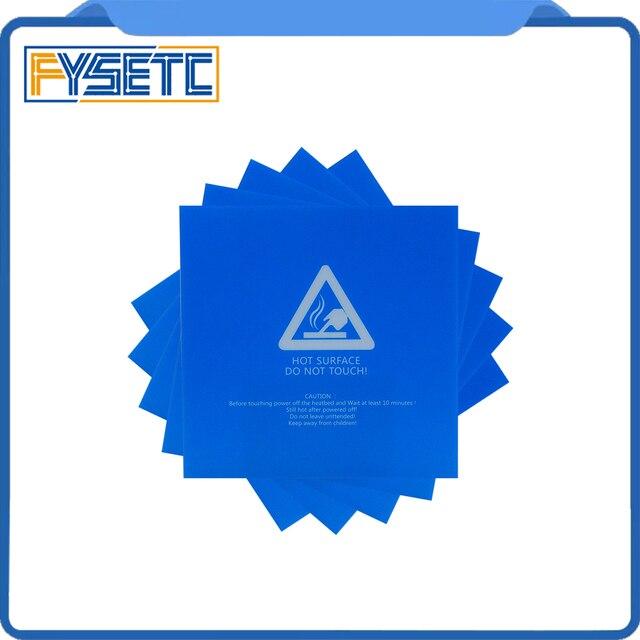 4 pcs 220x220mm Bleu Givré Chauffée lit Pour Wanhao i3 Anet A8 A6 Ender-3 Autocollant Construire Feuille construire plaque bande avec 3 M Support