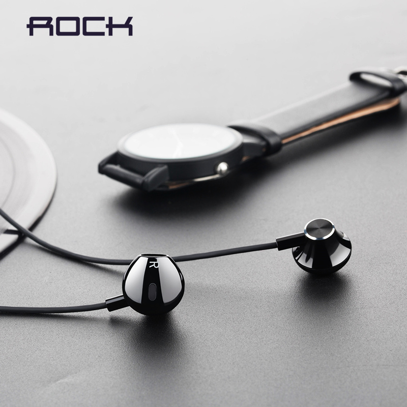 Rock Stereo Earphone In-ear Headset 3.5mm Phone Stereo Sound Headset for iPhone, SamSung,Huawei,Xiaomi and More Fone De Ouvido baseus h03 in ear wired earphone headphone stereo hifi in line headset with mic for iphone xiaomi fone de ouvido kulakl k