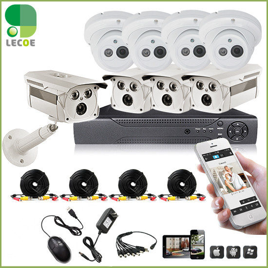 1200TVL Surveillance CCTV System 8CH CCTV DVR with 960H CMOS IR Cameras Security System with IR Cut Filter 8CH DVR Kit цена