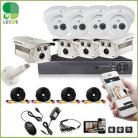 1200TVL Surveillance CCTV System 8CH CCTV DVR With 960H CMOS IR Cameras Security System With IR