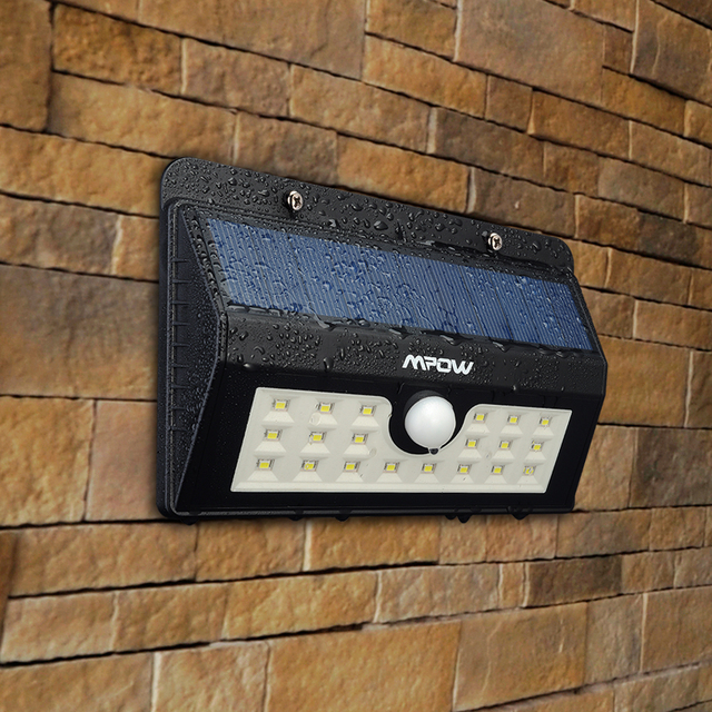 Mpow 20 LED Security Bewegingssensor LED Solar Verlichting Draadloze ...