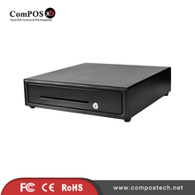 Free Shipping Cash Register Drawer With Cable For Receipt Printers With Removable Coin Tray Cash Box For POS Peripherals