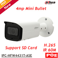 Dahua IP Camera IPC HFW4431T ASE POE 4MP WDR IR Mini Bullet Camera H 264 H