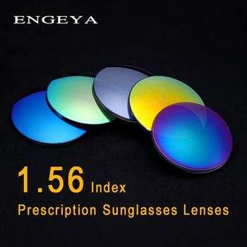 24aa1edb88 ENGEYA 1,56 índice prescripción gafas de sol lentes de los hombres y las  mujeres, lentes polarizadas para la miopía óptico rasguño Anti, gafas de sol  de la ...