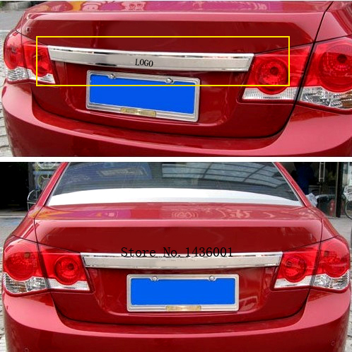 Stainless Steel Rear Trunk Lid Cover Trim For Chevrolet Cruze 2009 2010 2011 2012 2013