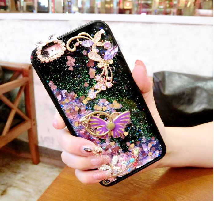 Phone Bags & Cases Cellphones & Telecommunications Intellective Diyabei Luxury Glitter Liquid Sand Quicksand Star Case For Oppo A53 A59 A57 A77 R11s R11splus Black Soft Cover Case