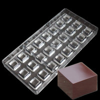 24 Cavities Square Chocolate Mould Polycarbonate Candy Tray Jelly Mold Hard Injection PC Chocolate Mold