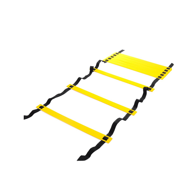 6 metros 236 pulgadas 12 peldaños escalera de agilidad ajustable para la velocidad del fútbol entrenamiento Fitness entrenamiento fuerza de coordinación