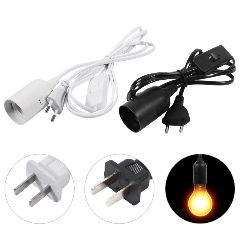 Details about e27 type plug in hanging pendant light fixture lamp bulb - 1pc E27 Hanging Pendant Light Fixture Home Lamp Chandeliers Bulb Socket Holder Cord With Switch