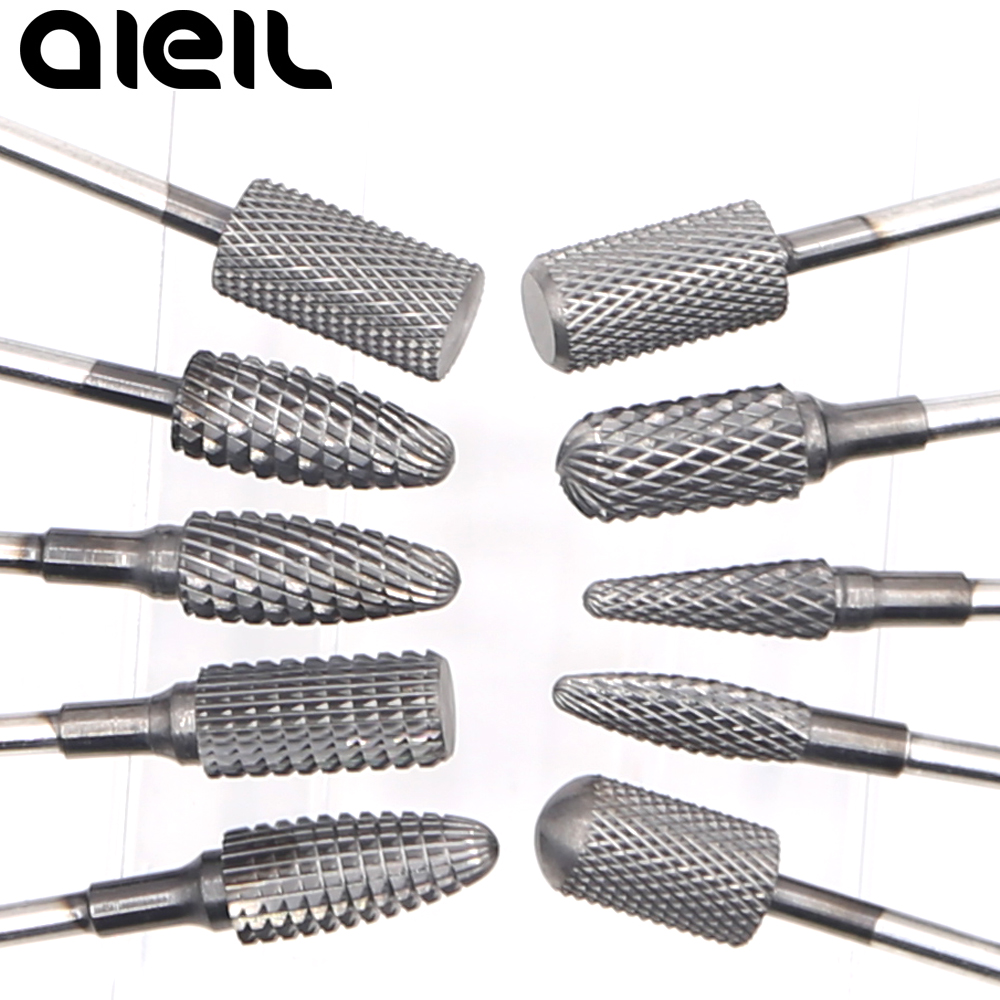Coating Carbide Nail Drill Bits Black Titanium Milling Cutter For Manicure Machine Drill Bits For Nail Drill Machine Accessories
