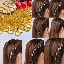 5/10Pc Punk Women Hip-Hop Braid Hand Cross Shell Star Ring Hair Clips Accessory(China)