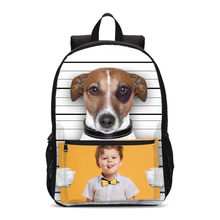Backpacks For Boys Girls Funny Cute Animal Dog Customized 3D Printing School Bag Travel Laptop Backbag Bookbag Mochila Escolar(China)